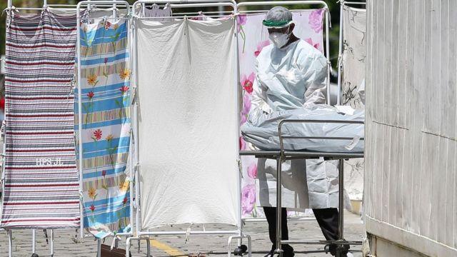Personal sanitario en Brasil.