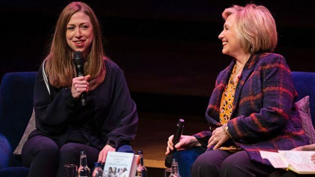 Chelsea Clinton (left) and Hillary Clinton