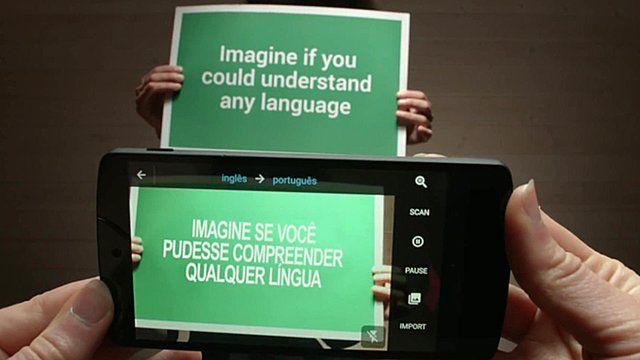 Google Translate's World Lens translating text