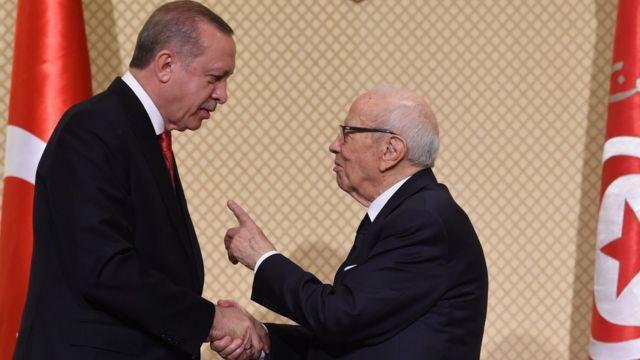 الرئيسان التونسي والتركي عقدا مؤتمرا صحفيا في تونس بعد اجتماع بينهما