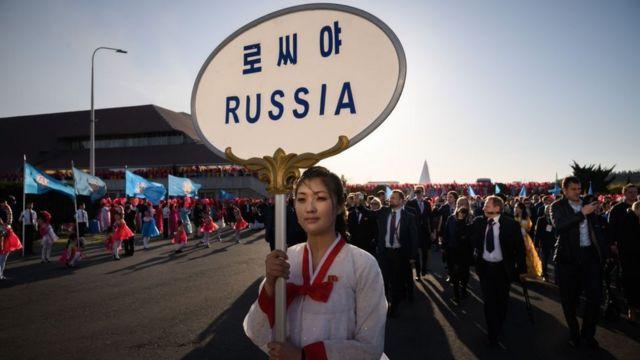 (캡션) 지난해 '4월의 봄 친선 예술축전' 참가 차 평양을 방문한 러시아 공연단