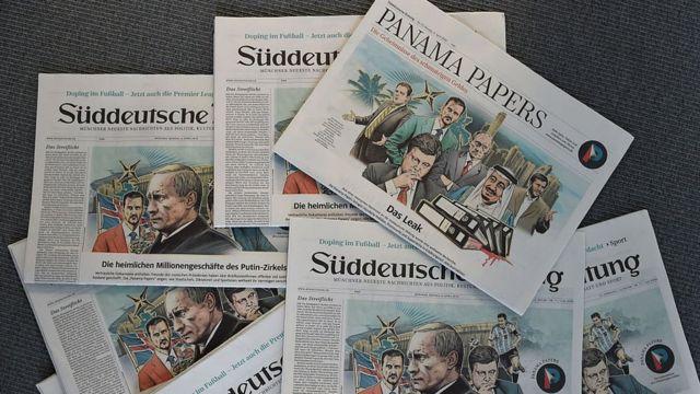Portadas de periódicos con los Papeles de Panamá