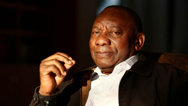 El presidente Ramaphosa, de Sudáfrica.