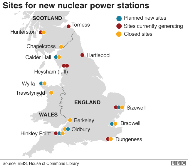 Nuclear plant in Anglesey suspended by Hitachi - BBC News on