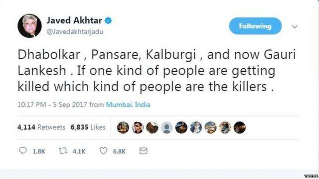 Javed Akhtar Twitter