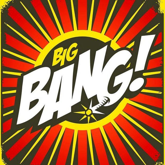 Ilustración de Big Bang estilo cómic