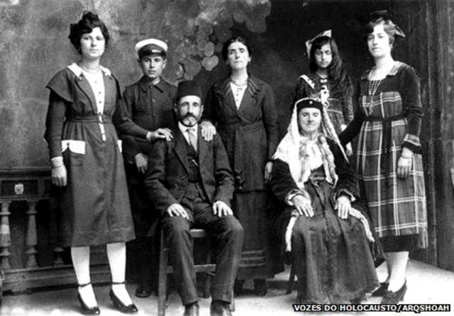 Famílias de judeus sefaraditas de Tessalônica. Ilha de Rodes, 1924