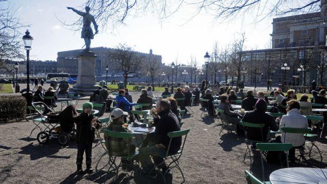 Gente en Estocolmo