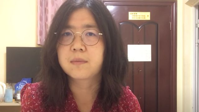 Zhang Zhan, imprisoned for her reports from Wuhan.