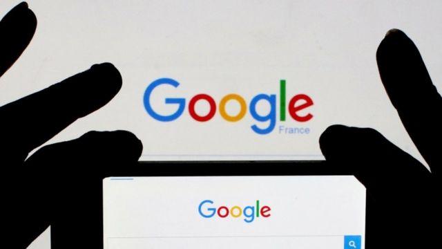 Logo de Google en la pantalla de un celular.