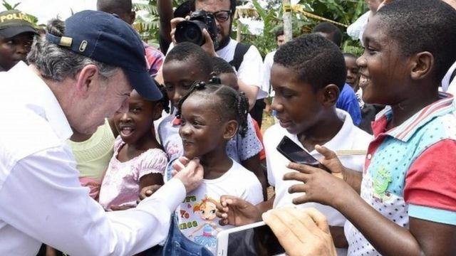 कोलंबिया के राष्ट्रपति ख़्वान मैनुएल सांतोस,नोबल पुरस्कार