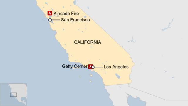 california, kebakaran, hutan, listrik, angin