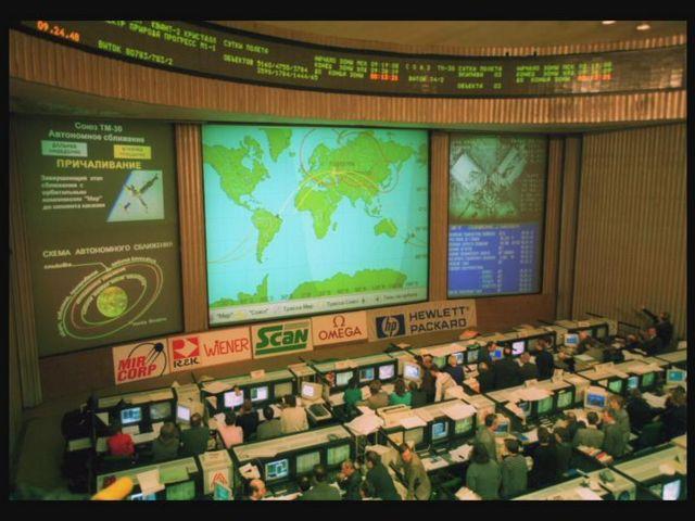 Centro de control espacial en Moscú