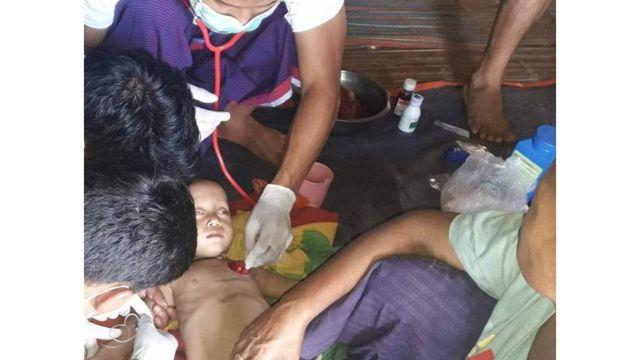လန်ပန်းကျေးရွာက ရောဂါဖြစ်နေတဲ့ ကလေးငယ်