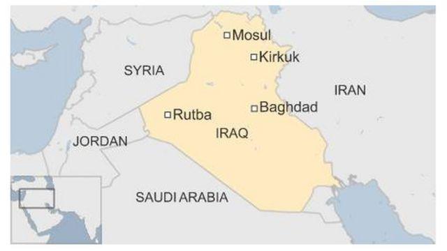 モスル(Mosul)やキルクーク(Kirkuk)はイラク北部に位置する