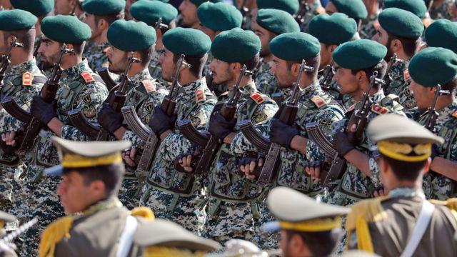 Homens da Guarda Revolucionária Iraniana