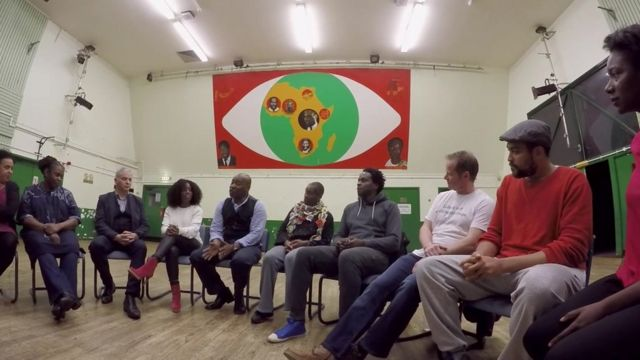 A meeting at the Malcolm X Community Centre in Bristol