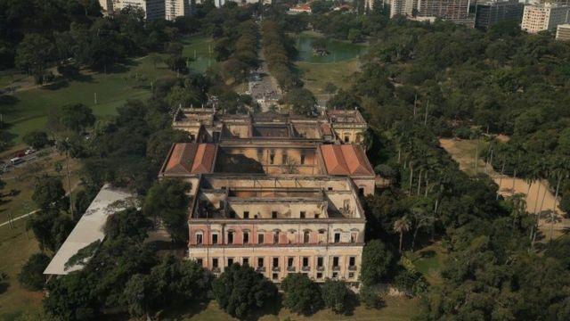 Vista del Museo Nacional de Brasil tras el incendio.