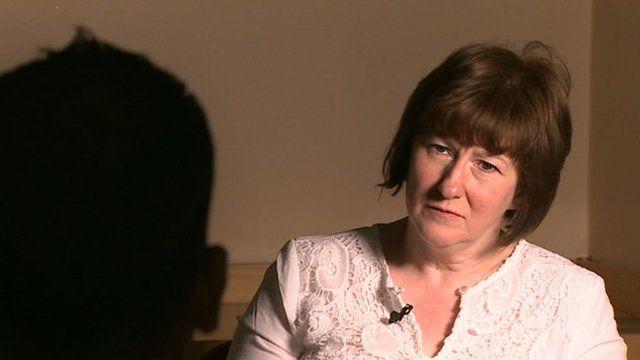 Reporter Caroline Evans
