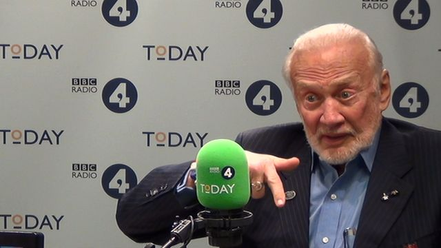 Buzz Aldrin speaks to John Humphrys on the Today programme