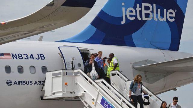 Primer vuelo de jet blue a Cuba