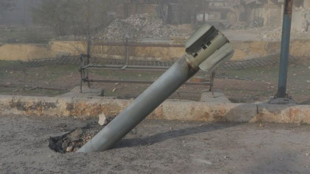 Aleppo, Sukkari, unexploded missile