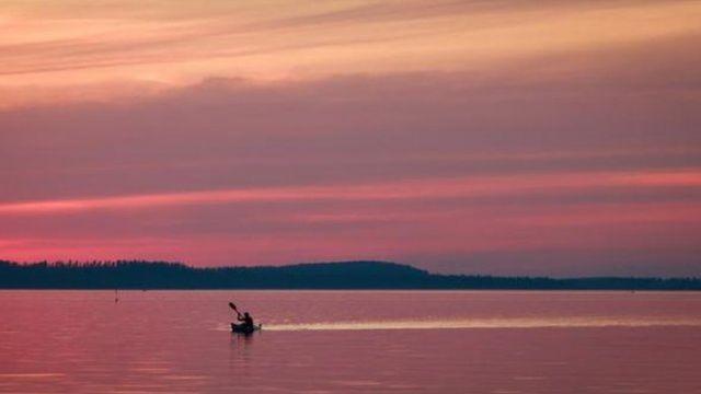 Paisaje marino en Finlandia.