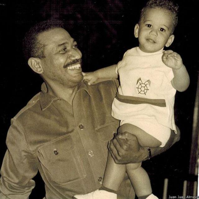 Juan Juan Almeida y su padre
