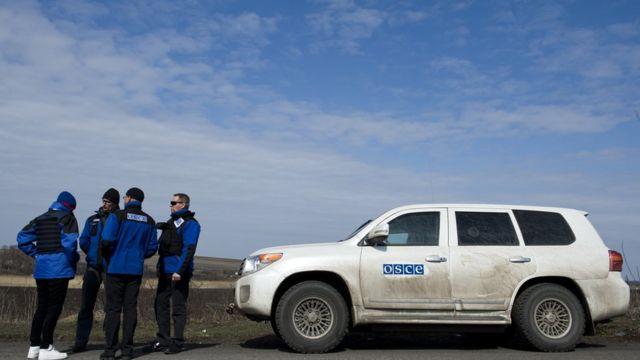 Наблюдатели ОБСЕ на территории Украины