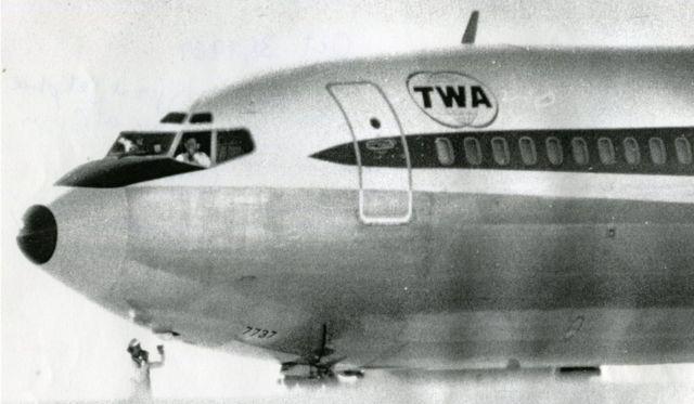 ቲደብሊዩኤ85 [TWA85] አውሮፕላን ባነጎር አየር ማረፊያ ውስጥ