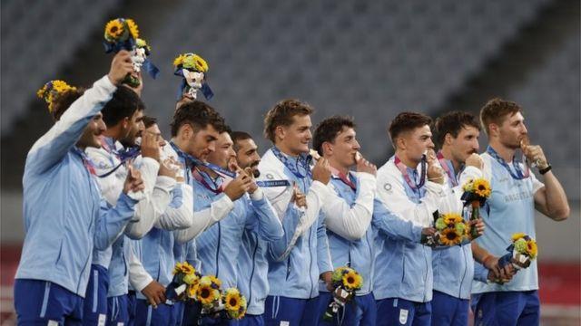 El equipo de rugby 7 de Argentina