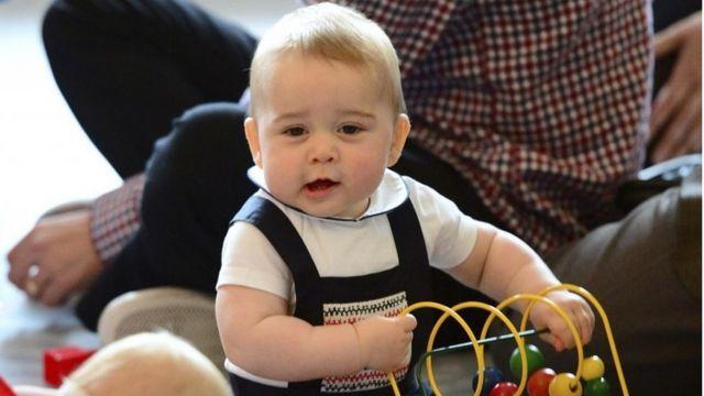 2014年4月にニュージーランド訪問中だった生後8カ月のジョージ王子