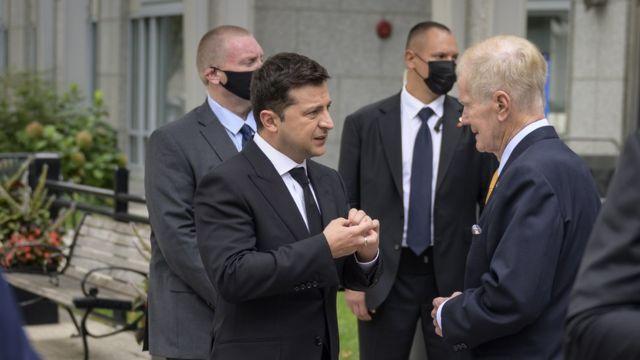 Билл Нельсон и Владимир Зеленский