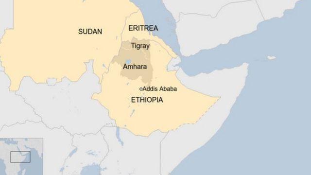 集団虐殺はエチオピア(ETHIOPIA)北部のティグレ(Tigray)州で起きたとみられる