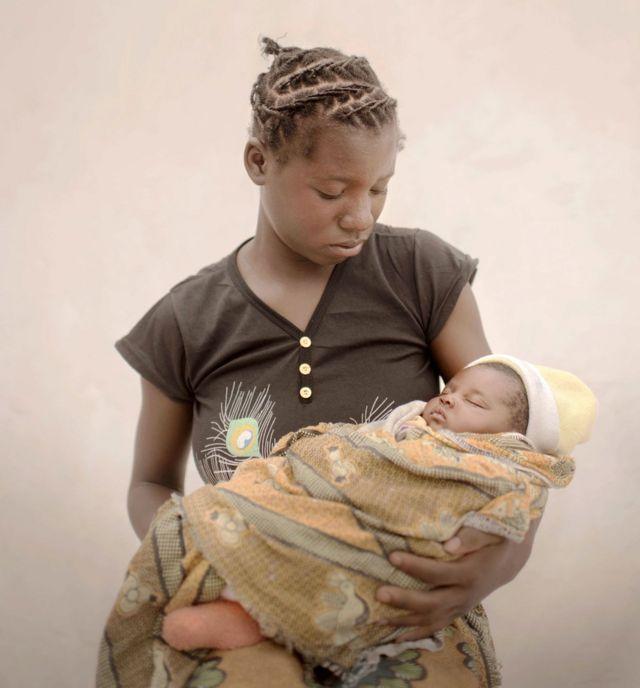 Mulenga and her baby