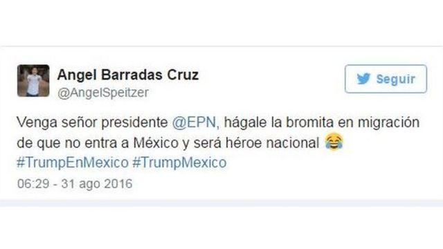Tuit de Ángel Barradas