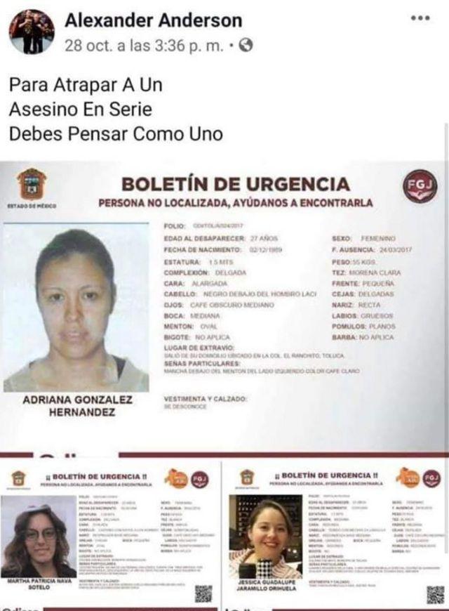 Post de Facebook de Óscar García Guzmán