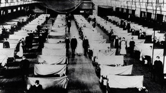 Tokom epidemije Španske groznice, skladišta su pretvorena u bolnice u kojima su izolovani pacijenti