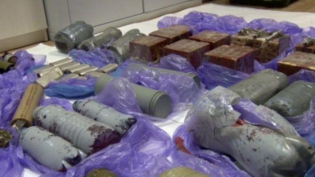 Explosivos presentados por la seguridad rusa