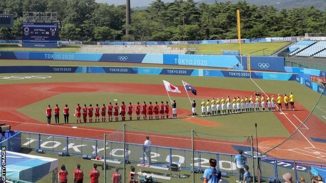 Olympic softball starts in Fukushima
