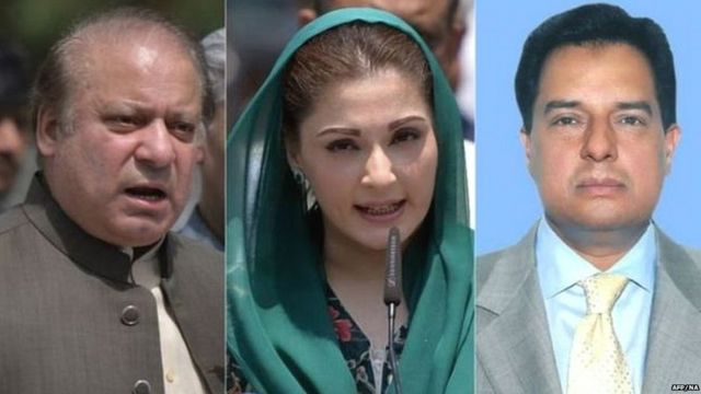 NAWAZ, DAUGHTER AND SON-IN-LAW