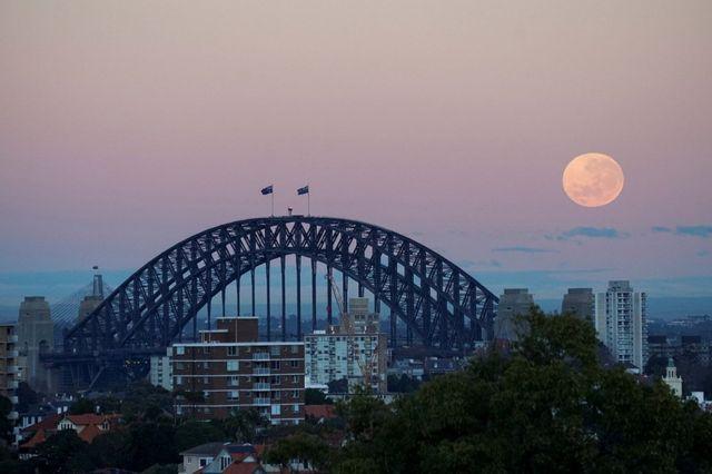 Moon in Sydney, Australia