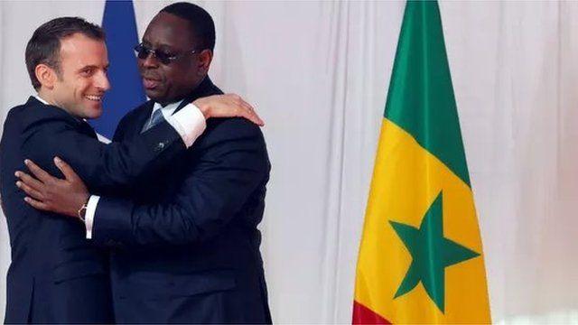 Les présidents français et sénégalais