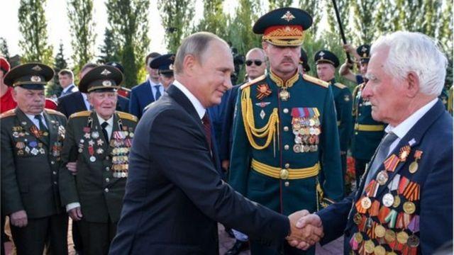 Tổng thống Putin thường xuyên nhắc nhở người Nga về chủ nghĩa anh hùng thời chiến của quốc gia