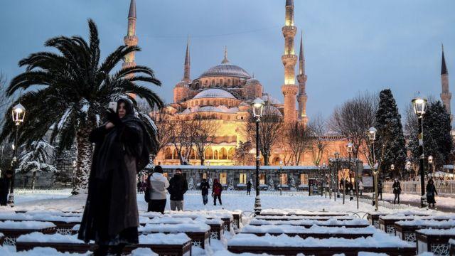 İstanbulun Sultan Ahmet məsçidi