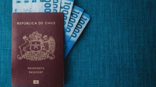 pasaporte chile y dinero