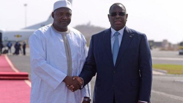 Adama Barrow da Macky Sall