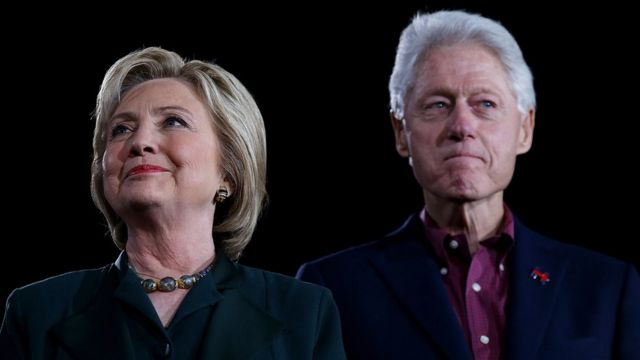 Hillary Clinton y Bill Clinton.