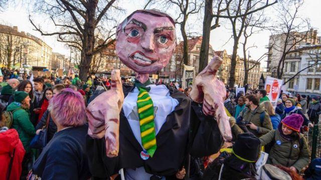 Brezilya'da bir protesto