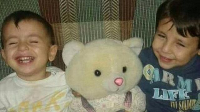 Undated image taken from the internet of Kurdish brothers Aylan and Galip Kurdi aged three and five respectively,